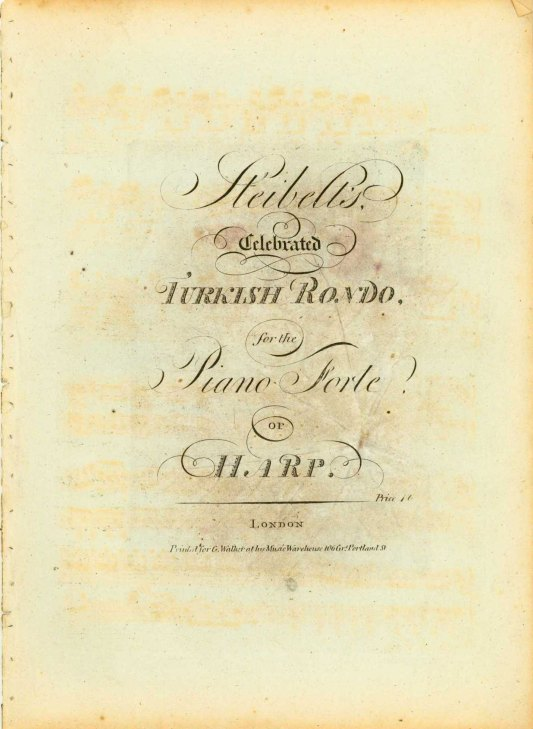 Steibelt, Daniel - Celebrated Turkish Rondo, For The Piano Forte Or Harp. - (6773)
