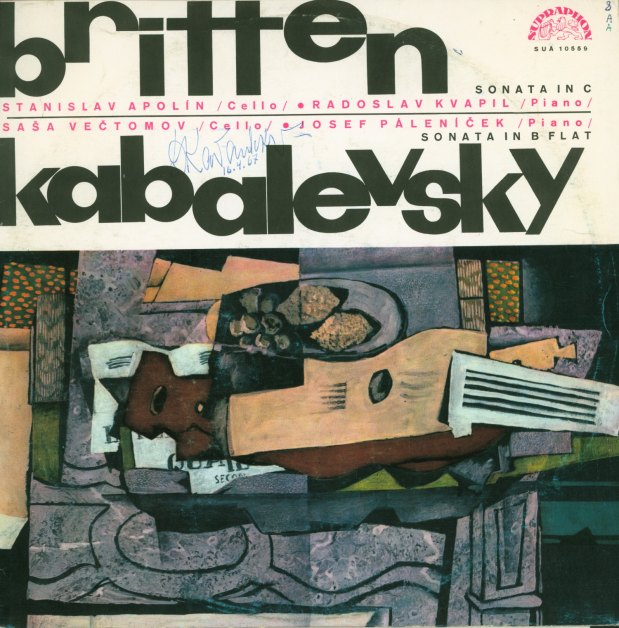 Britten, Benjamin - LP Recording Signed By Britten And Kabalevsky. - (4316)