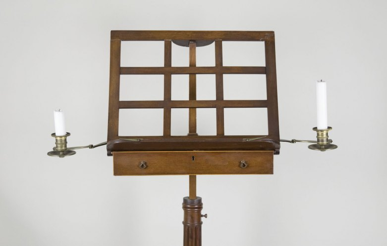 Music Stand - French With Candlesticks - (3862)