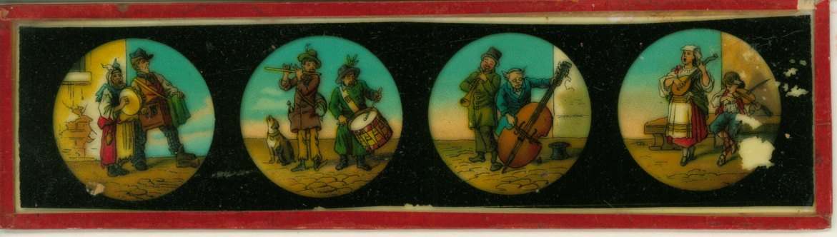 Musical Image Slide - Slide With 4 Images Of Musicians. - (4895)
