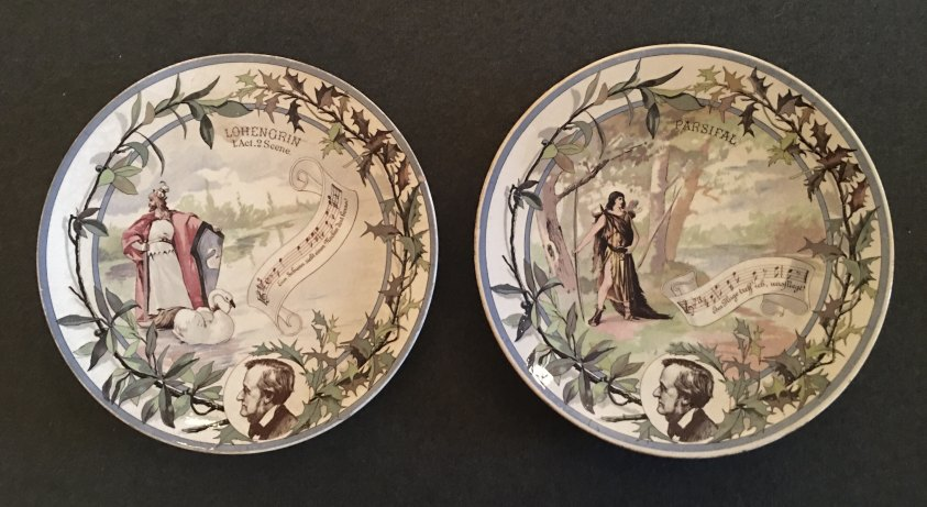 Wagner, Richard - Lohengrin & Parsifal Decorative Plates. - (6964)