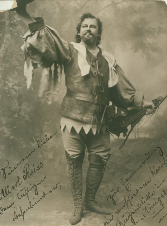 Goritz, Otto - Photograph As The Fiddler In World Premiere Of Konigskinder, Inscribed To Tenor... - (3698)