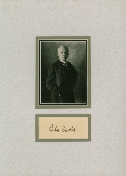 Bartók, Béla - Ensemble With Photo And Signature. - (3755)