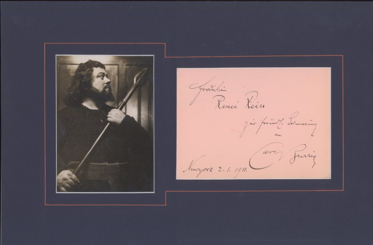 Burrian, Carl - Ensemble With Signature And Photograph. - (3675)