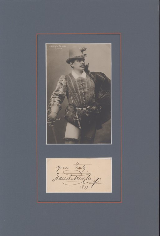 De Reszke, Jean - Ensemble With Signature & Photo As Romeo. - (3695)