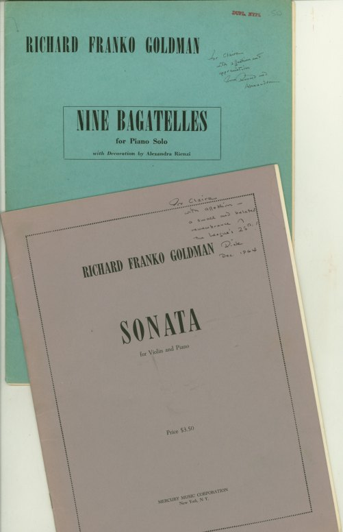 Goldman, Richard Franko - Lot Of 2 Signed Goldman Scores. - (5036)